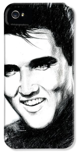 Elvis Presley iPhone 5s Case - Elvis by Lin Petershagen