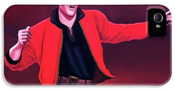 Rock And Roll iPhone 5s Case - Elvis Presley 4 Painting by Paul Meijering