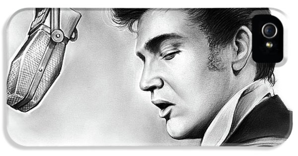 Rock And Roll iPhone 5s Case - Elvis Presley by Greg Joens