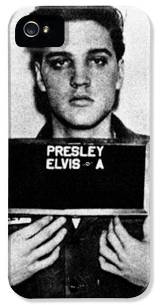 Elvis Presley iPhone 5s Case - Elvis Presley Mug Shot Vertical 1 by Tony Rubino