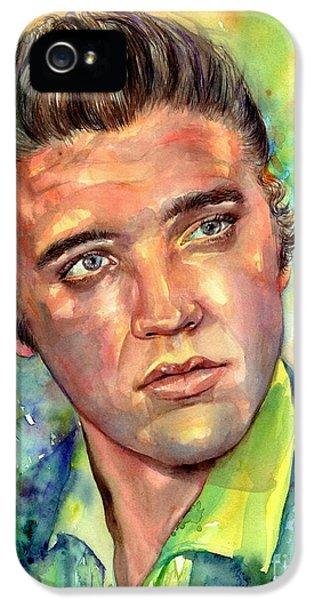 Elvis Presley iPhone 5s Case - Elvis Presley Watercolor by Suzann's Art