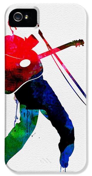 Elvis Presley iPhone 5s Case - Elvis Watercolor by Naxart Studio