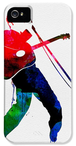 Elvis Watercolor IPhone 5s Case by Naxart Studio
