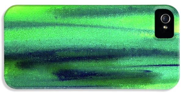 Light iPhone 5s Case - Emerald Flow Abstract Painting by Irina Sztukowski