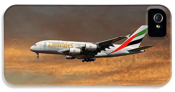 Jet iPhone 5s Case - Emirates Airbus A380-861 3 by Smart Aviation
