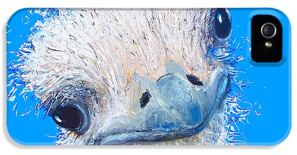 Emu Painting IPhone 5s Case by Jan Matson