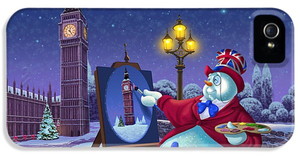 English Snowman IPhone 5s Case by Michael Humphries