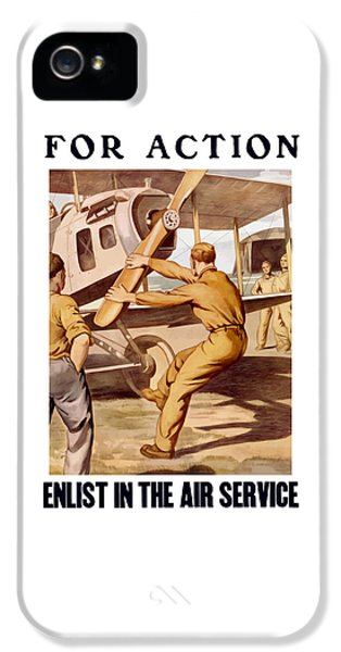 Airplane iPhone 5s Case - Enlist In The Air Service by War Is Hell Store
