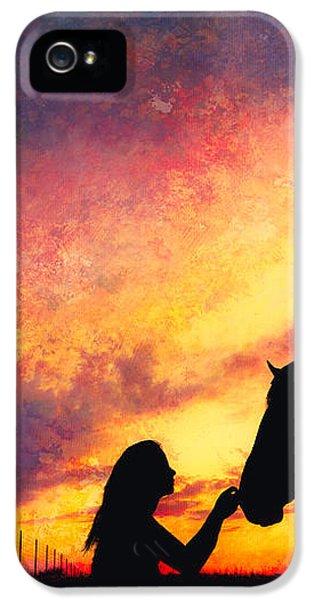 Equine Sunset IPhone 5s Case by Debi Bishop