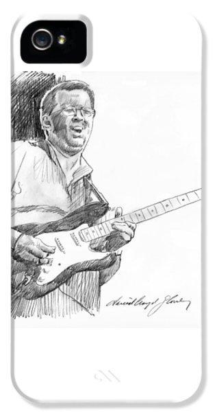 Eric Clapton Jam IPhone 5s Case by David Lloyd Glover