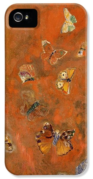 Evocation Of Butterflies IPhone 5s Case by Odilon Redon