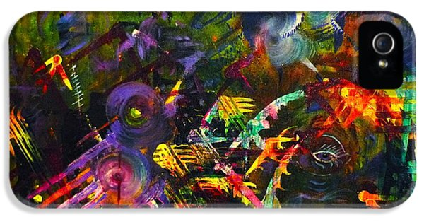 IPhone 5s Case featuring the painting Eye In Chaos by Claire Bull