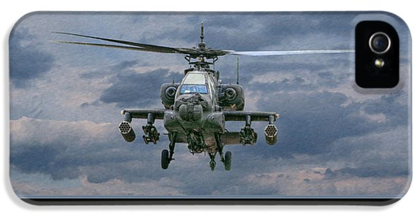 Helicopter iPhone 5s Case - Face Of Death Ah-64 Apache Helicopter by Randy Steele