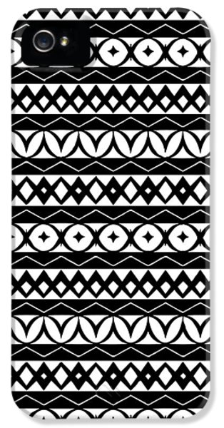Fair Isle Black And White IPhone 5s Case by Rachel Follett