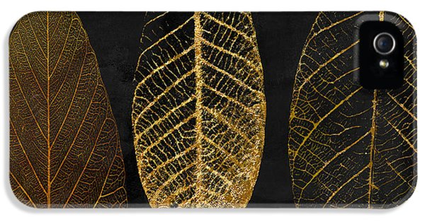 Pattern iPhone 5s Case - Fallen Gold II Autumn Leaves by Mindy Sommers
