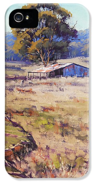 Rural Scenes iPhone 5s Case - Farm Shed Pyramul by Graham Gercken