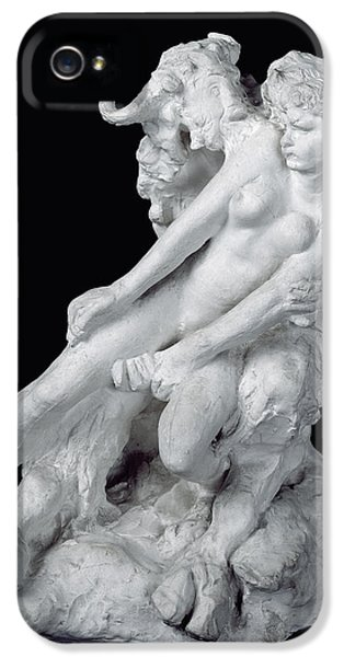 Minotaur iPhone 5s Case - Faun And Nymph by Auguste Rodin