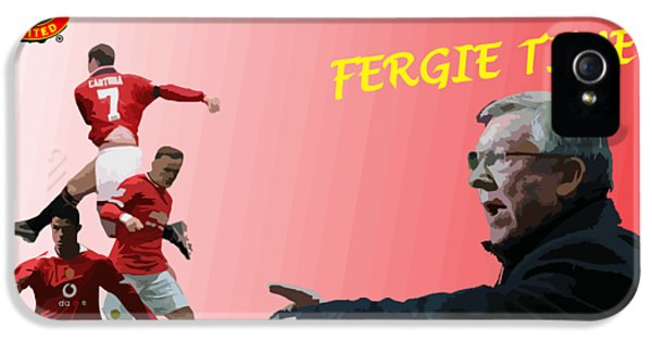 Wayne Rooney iPhone 5s Case - Fergie Time by Blue Crescent Studio
