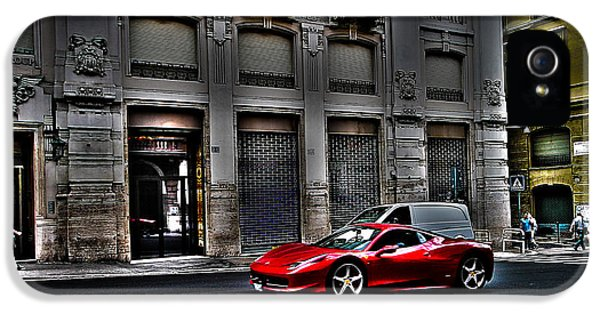 Ferrari In Rome IPhone 5s Case by Effezetaphoto Fz