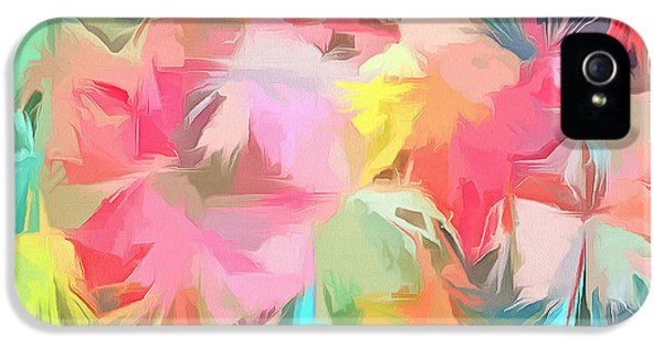 Fireworks Floral Abstract Square IPhone 5s Case by Edward Fielding