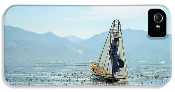 Burmese Python iPhone 5s Case - Fisherman by Delphimages Photo Creations