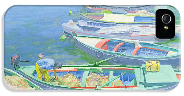 Boat iPhone 5s Case - Fishing Boats by William Ireland