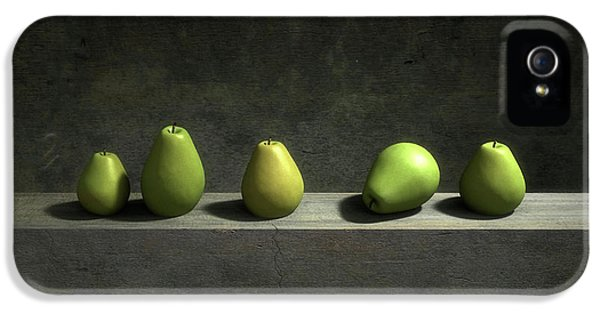 Still Life iPhone 5s Case - Five Pears by Cynthia Decker