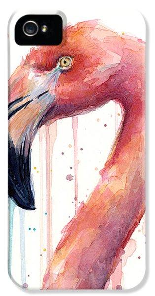 Flamingo Watercolor Illustration IPhone 5s Case