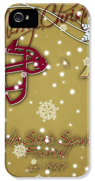 Florida State Seminoles Christmas Card 2 IPhone 5s Case by Joe Hamilton