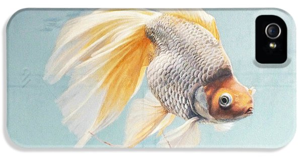 Flying In The Clouds Of Goldfish IPhone 5s Case by Chen Baoyi