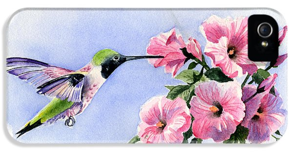 Humming Bird iPhone 5s Case - Flying Jewel by David Rogers