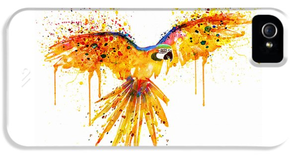 Flying Parrot Watercolor IPhone 5s Case by Marian Voicu