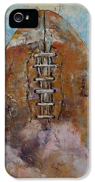 Football IPhone 5s Case by Michael Creese