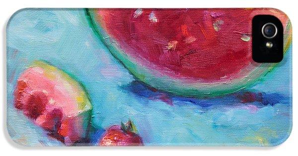 Watermelon iPhone 5s Case - Forbidden Fruit by Talya Johnson