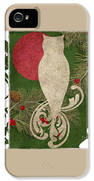 Forest Holiday Christmas Owl IPhone 5s Case by Mindy Sommers