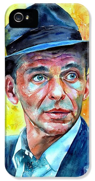 Frank Sinatra iPhone 5s Case - Frank Sinatra In Blue Fedora by Suzann's Art