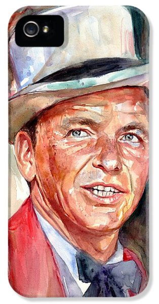 Frank Sinatra iPhone 5s Case - Frank Sinatra Portrait by Suzann's Art