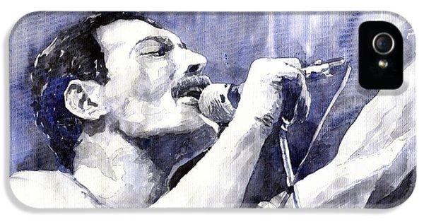 Figurative iPhone 5s Case - Freddie Mercury by Yuriy Shevchuk
