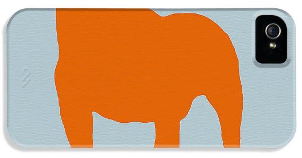 Dog iPhone 5s Case - French Bulldog Orange by Naxart Studio