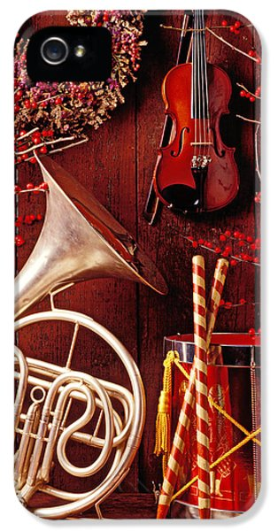 Drum iPhone 5s Case - French Horn Christmas Still Life by Garry Gay