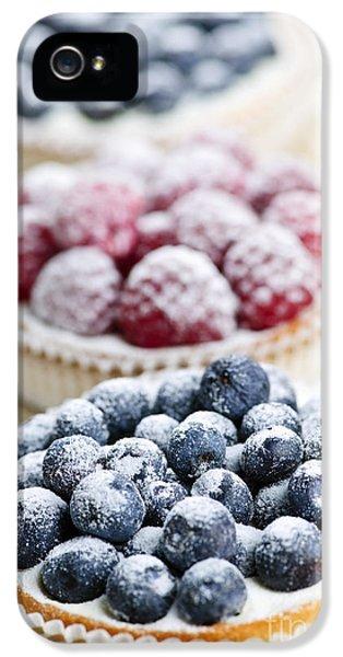Raspberry iPhone 5s Case - Fresh Berry Tarts by Elena Elisseeva