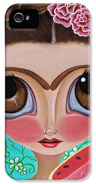 Watermelon iPhone 5s Case - Frida And The Watermelon by Jaz Higgins