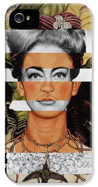 Frida Kahlo And Joan Crawford IPhone 5s Case by Luigi Tarini