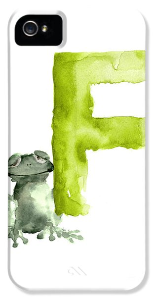 Frog Watercolor Alphabet Painting IPhone 5s Case by Joanna Szmerdt