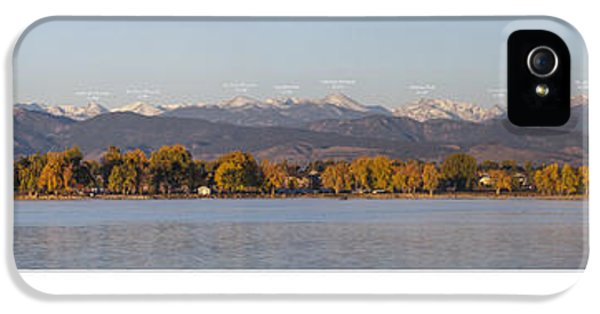 Front Range With Peak Labels IPhone 5s Case by Aaron Spong