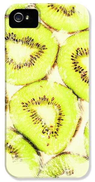 Full Frame Shot Of Fresh Kiwi Slices With Seeds IPhone 5s Case by Jorgo Photography - Wall Art Gallery