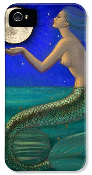 Full Moon Mermaid IPhone 5s Case by Sue Halstenberg