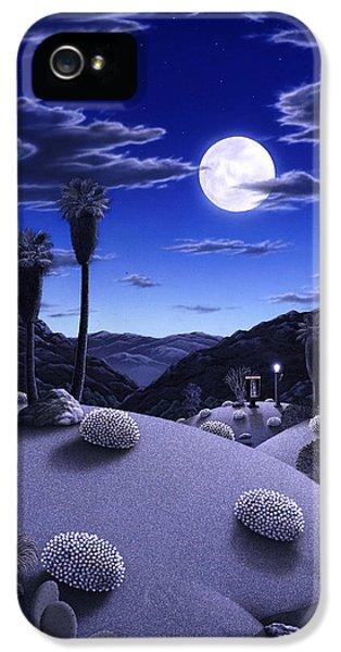Desert iPhone 5s Case - Full Moon Rising by Snake Jagger