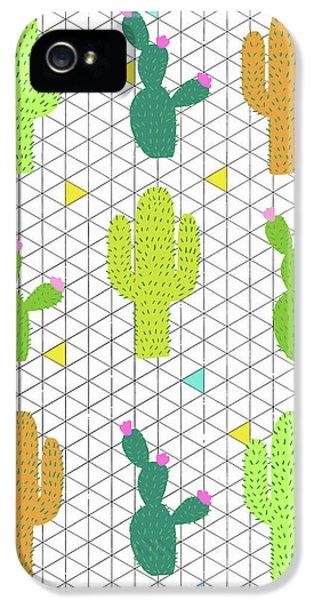 Funky Cactus IPhone 5s Case by Nicole Wilson