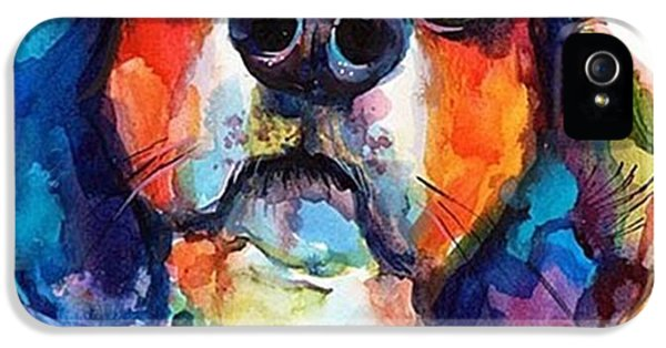 Funny Beagle Watercolor Portrait By IPhone 5s Case